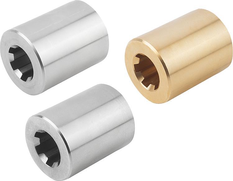 Keilnaben rund aus Stahl C45
