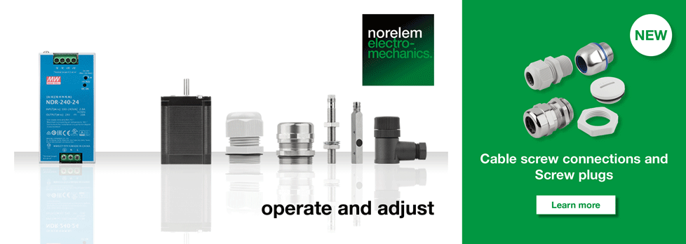 norelem electromechanics: Cable screw connections and Screw plugs